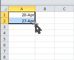Excel date function membuat rangkaian tanggal