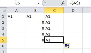 excel formula Absolut referensi menggunakan $