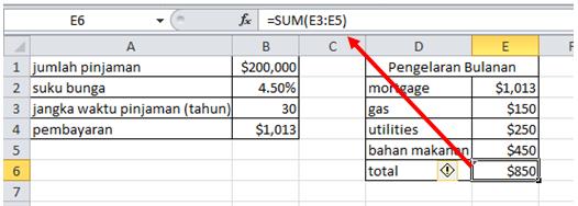 excel formula currency and percentage dengan sum