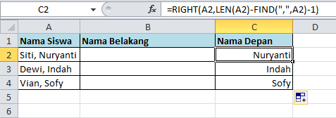 excel formula fungsi right 2