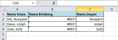 excel formula fungsi right paste REF