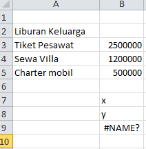 excel formula fungsi sum autosum menggunakan huruf