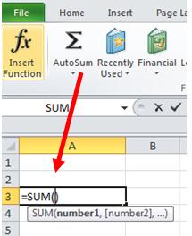 excel formula fungsi sum autosum