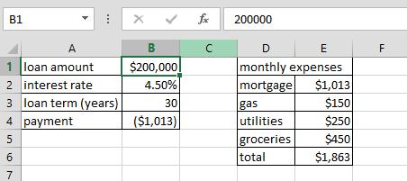 excel formula worksheet pinjaman