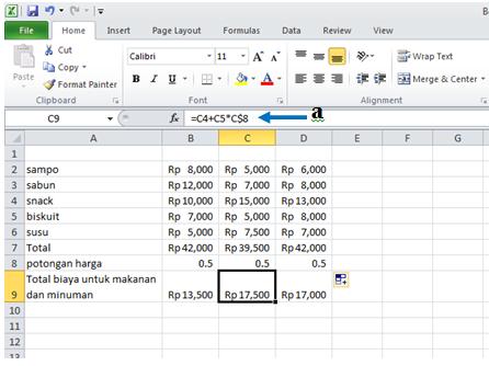 excel formula copy relatif formula hasil