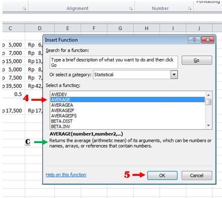 excel formula menerapkan fungsi memilih kategori dan fungsi