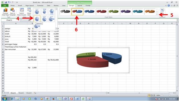 tutorial excel -format chart dengan layout