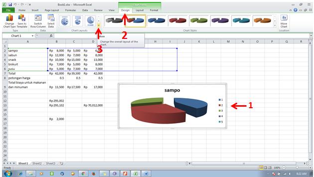 tutorial excel -format chart