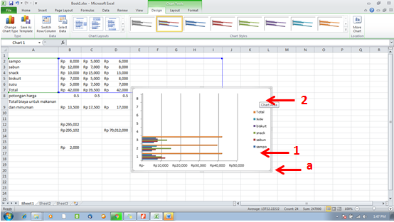 tutorial excel -move chart