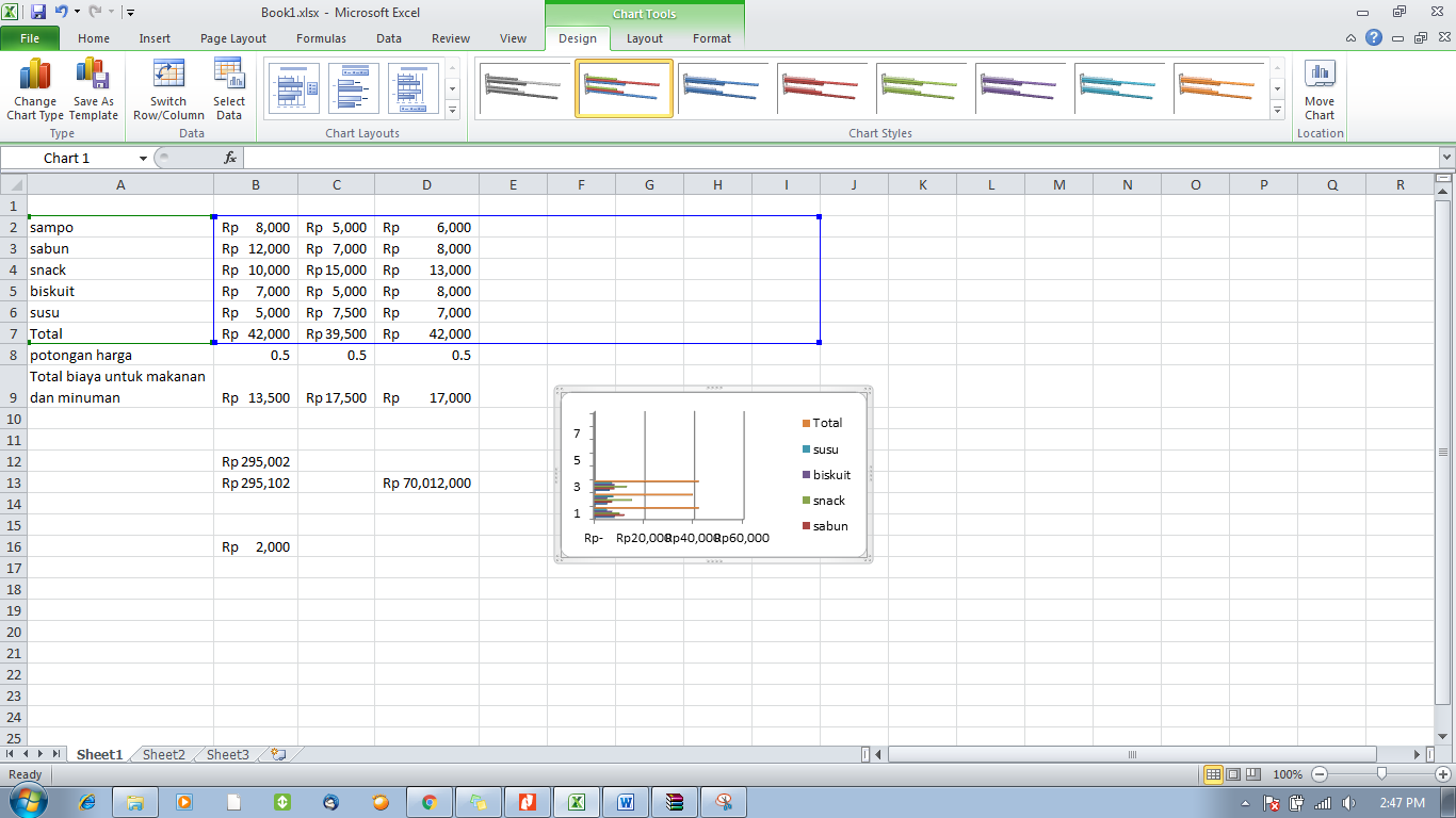 tutorial excel -resize chart