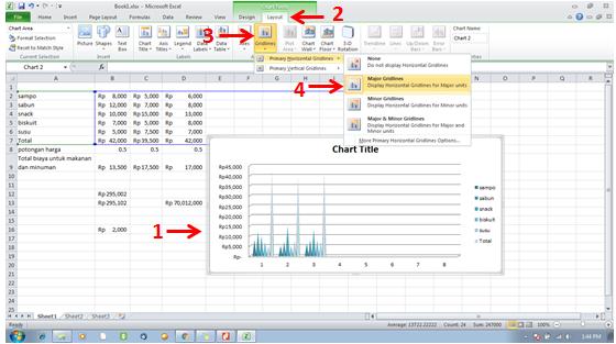 tutorial ms excel-Menambahkan Chart Object