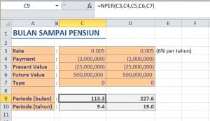 Menghitung Periode Pembayaran dengan Fungsi NPER di Microsoft Excel