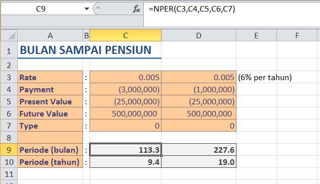 Menghitung Periode Pembayaran dengan Fungsi NPER di Microsoft Exc
