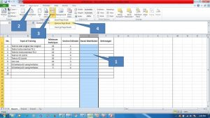 Menambahkan Page Break di di Ms Excel