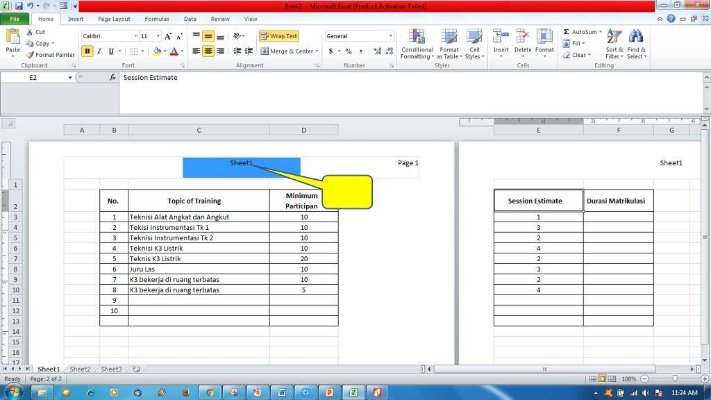 Menambahkan Header dan Footer di Ms Excel4