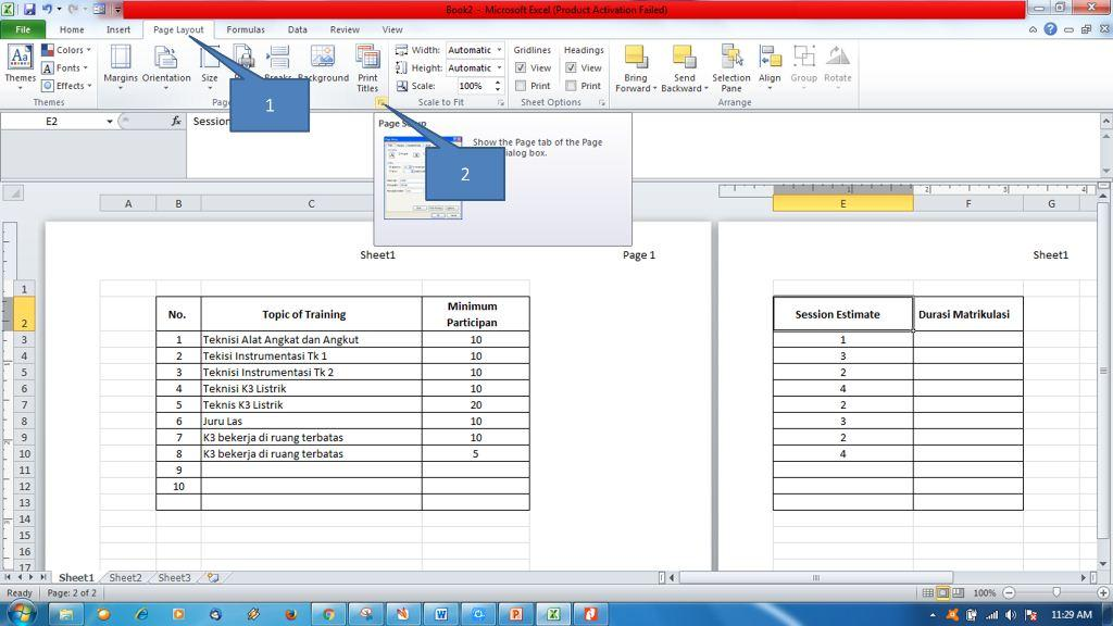 Menambahkan Header dan Footer di Ms Excel5