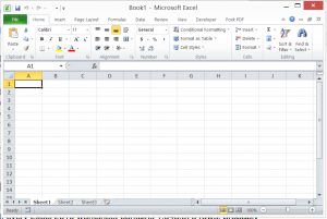 Memilih Cell pada Worksheet Excel