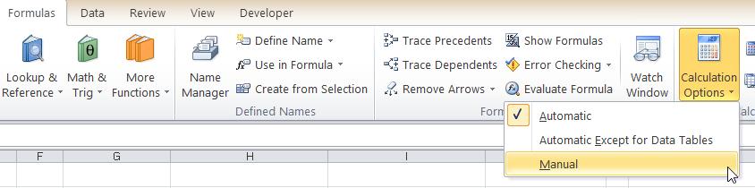 Mode Kalkulasi Rumus Excel