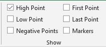 Setting Penekanan Key Points di Sparkline